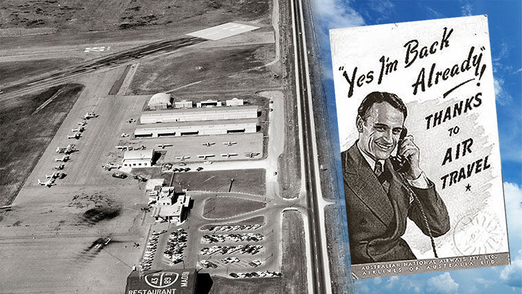1950s Traux Airport aerial