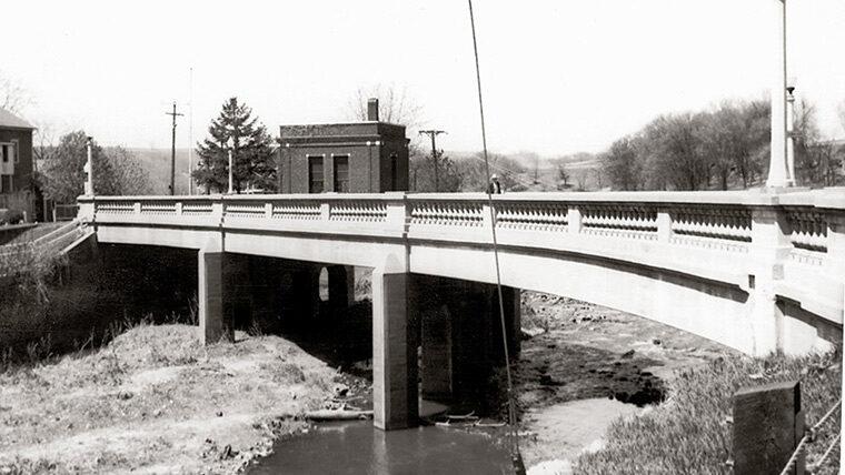 Bridge leading to town