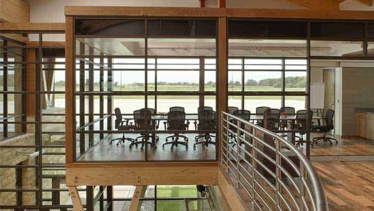 Upstairs conference room in Appleton Airport