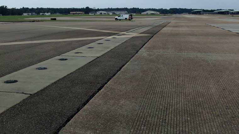 Columbus Air Force Base Runway Complete