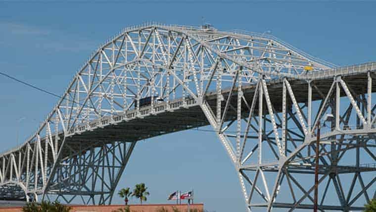 Corpus Christi Harbor Bridge Close up