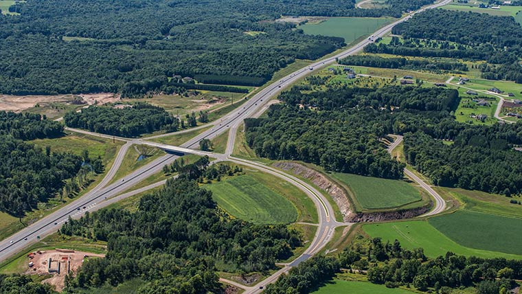 Wisconsin Highway 29 Roadway and Bridge Design