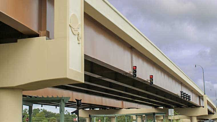 Sideview of Backgate Bridge