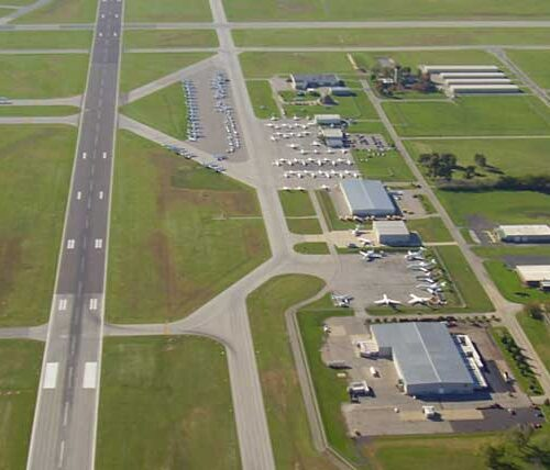 Aerial of South Bend Airport
