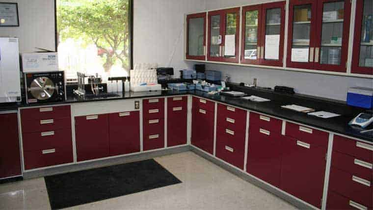 Break room area of Hastings Water and Wastewater treatment plant