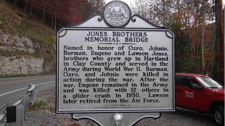 Hartland Bridge signage