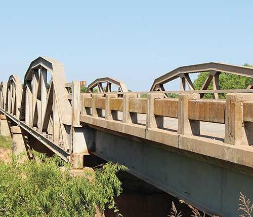 Red River historic bridge