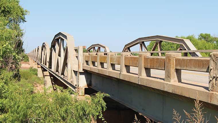 Red River historic bridge