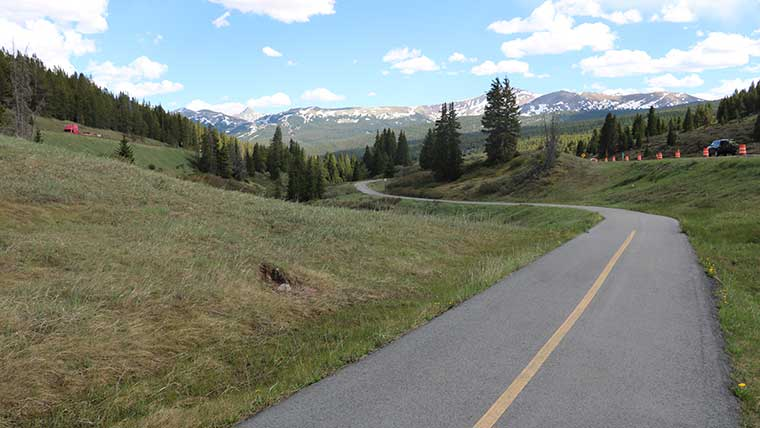 Highway stretches through Vail Pass