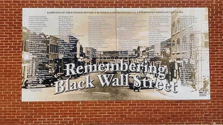 Black Wall Street mural remembers Tulsa's race massacre