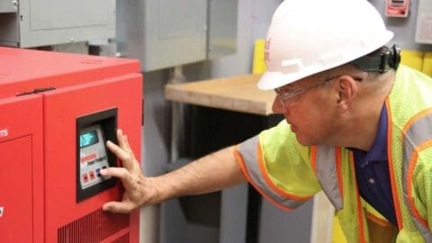 Commissioning includes inspecting equipment after a project is complete