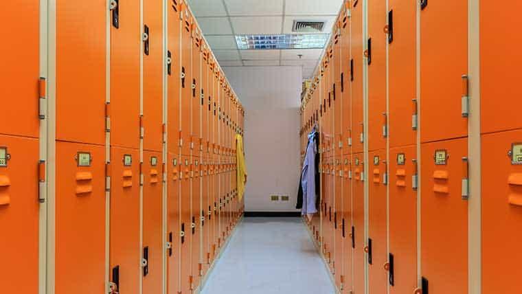food plant locker room