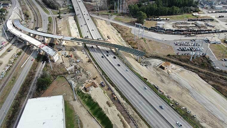 Aerial of I-26 and Port Access Road