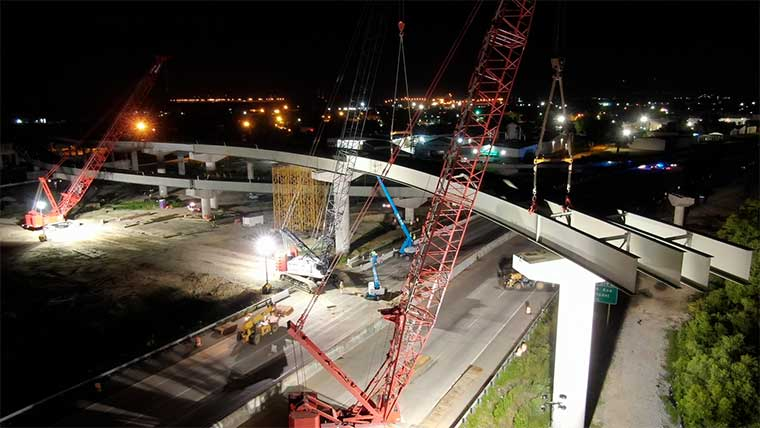 Port Access construction inspection at night