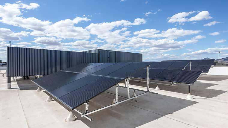 Solar panels at Scottsdale Airport