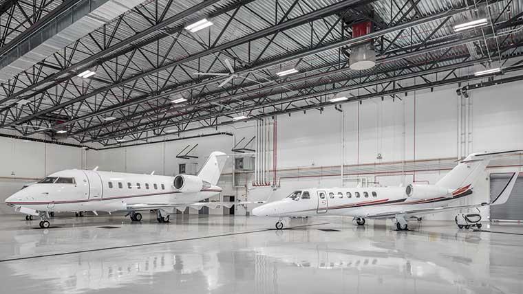 Scottsdale Airport airplane hangar