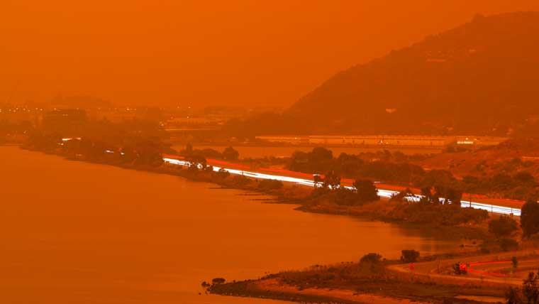 Wildfires effect on water quality