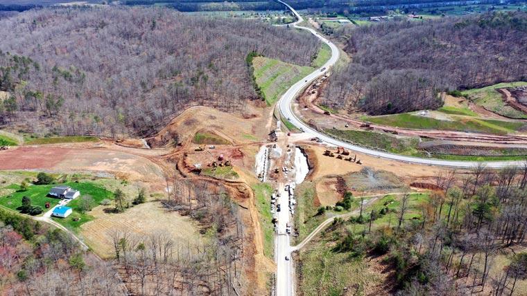 Aerial of US 35 roadway