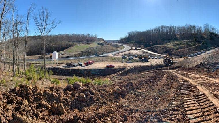 Ground view of US 35 construction