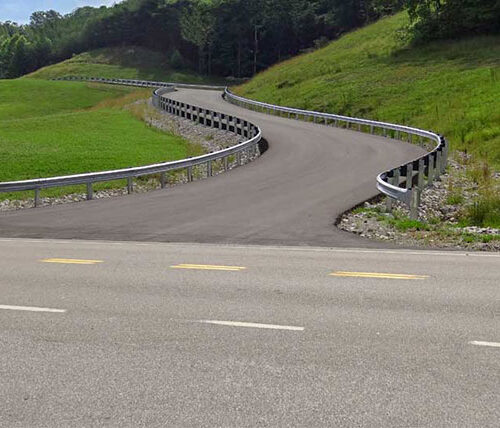 Access road for West Virginia Army National Guard facility