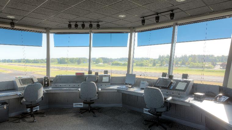 Interior of Aurora Airport ATCT