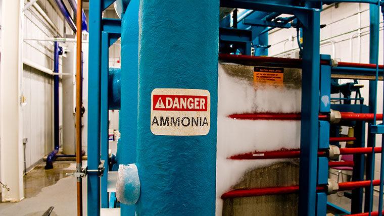 Ammonia pipe in facility