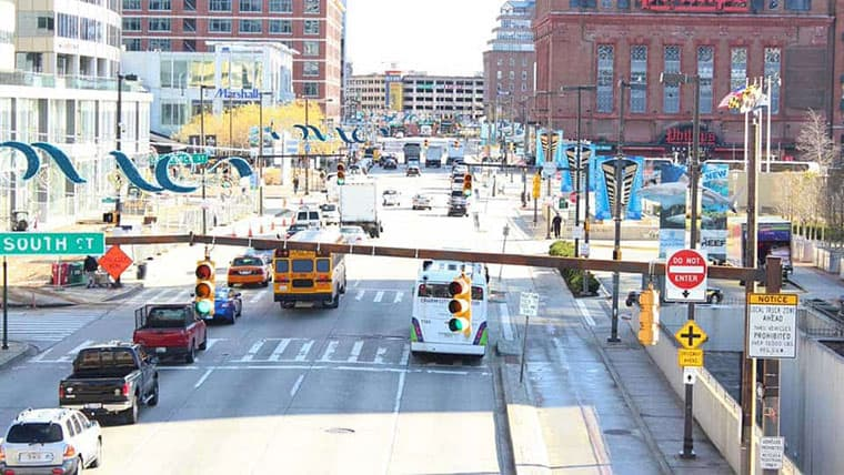 on-call traffic engineering for Baltimore city streets
