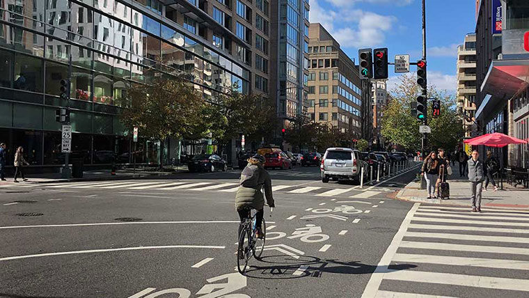 Citywide signal timing promotes pedestrian traffic safety