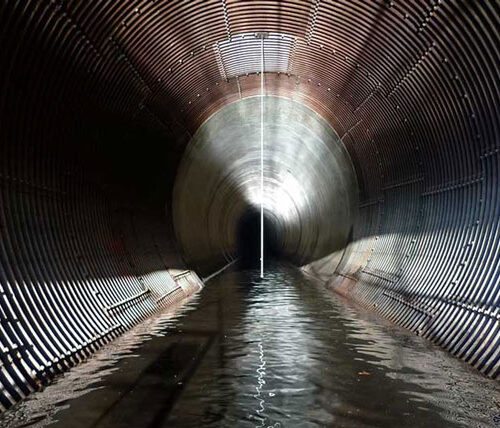 Broken bow diversion tunnel