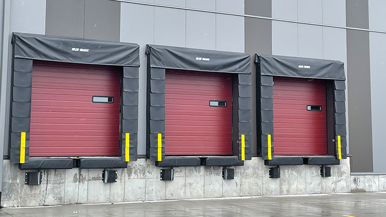 3 red cargo bays with brown trim