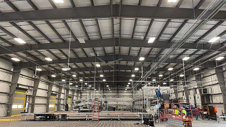 CID's west cargo facility interior