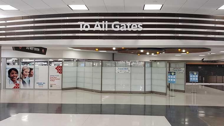 Iowa Airport screening area
