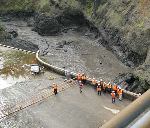 Inspecting the condit hydroelectric project