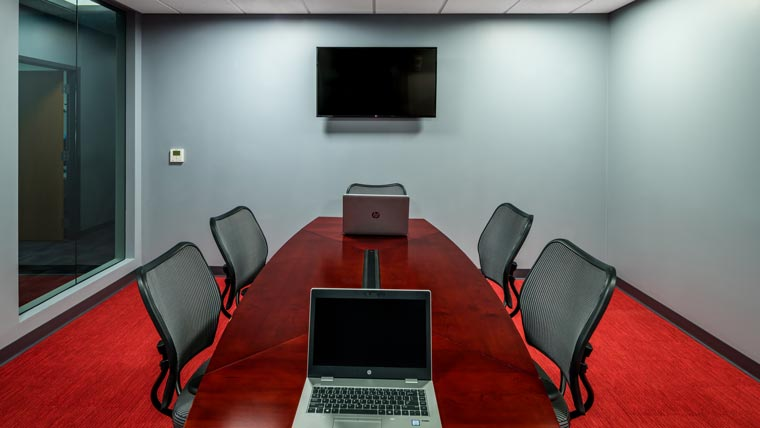 Conference room at Truax Squadron Operations building