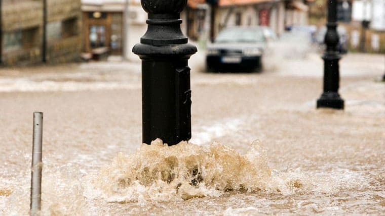 Rising water due to climate change