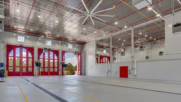 Fort Polk Fire Station garage