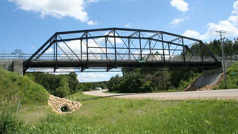 Sideview of Gateway Trail Bridge