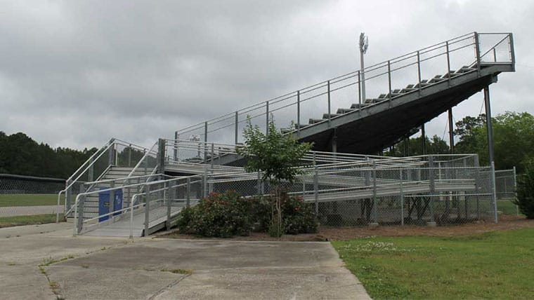Stadium seating at Horry County school