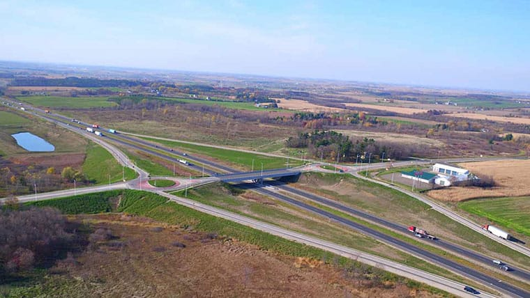 I-94 and CTH T interchange in St. Croix