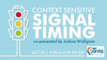 Context Sensitive Signal Timing Webinar banner