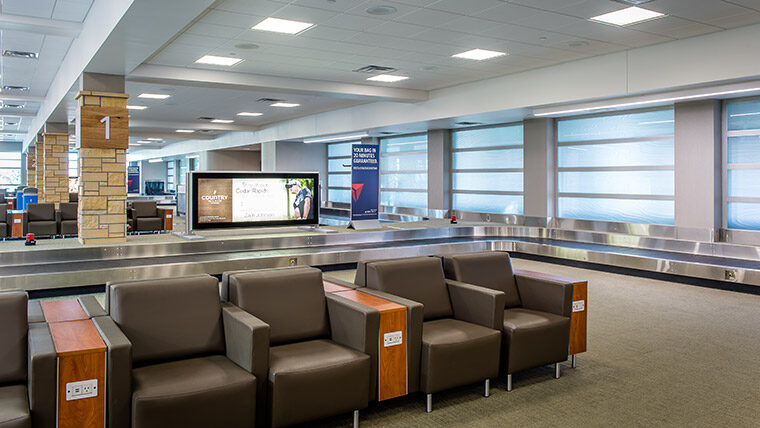 Seating area at Eastern Iowa Airport