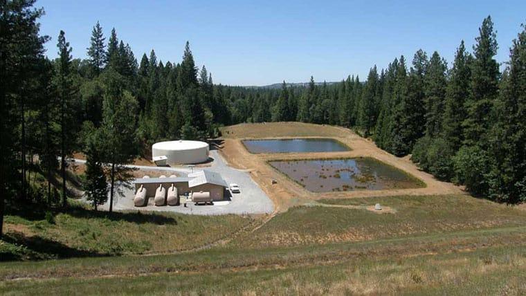 Water treatment tanks at Jeff Davis plant