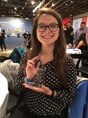 Jennifer Smith accepts award