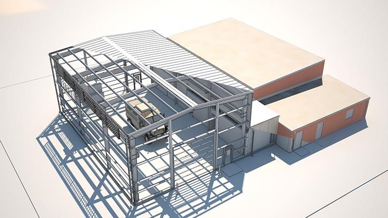 Joliet Field Maintenance shop rendering