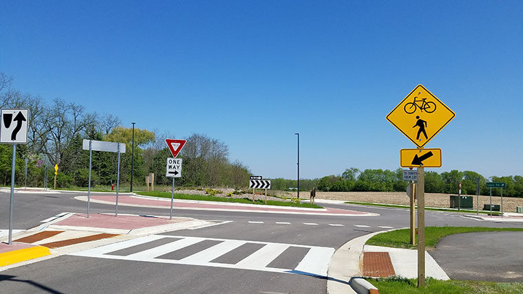 Lacy Road Roundabout Construction
