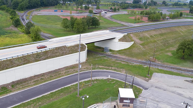 Aerial of MAR-309 overpass