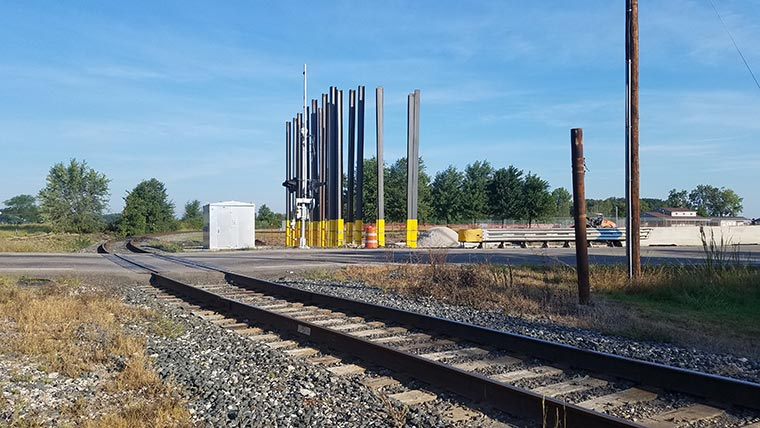 Construction MAR-309 grade separation