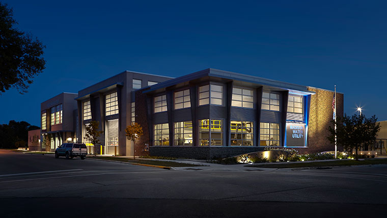 Madison-Water-Utility-Building-Exterior-Night
