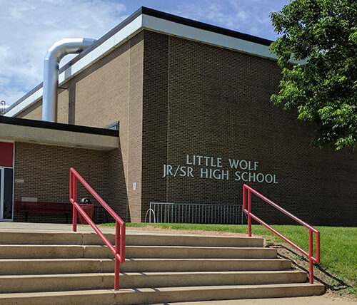 Little Wolf Jr/Sr High school exterior