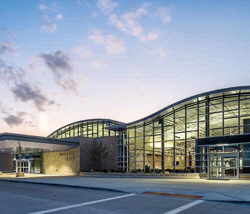 Manhattan Regional Airport terminal exterior
